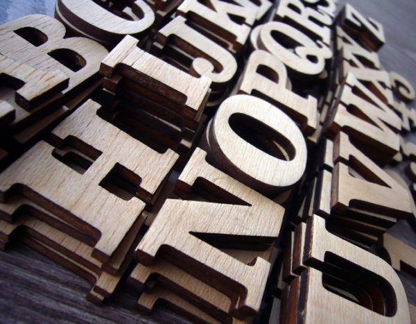 Como decorar letras madera