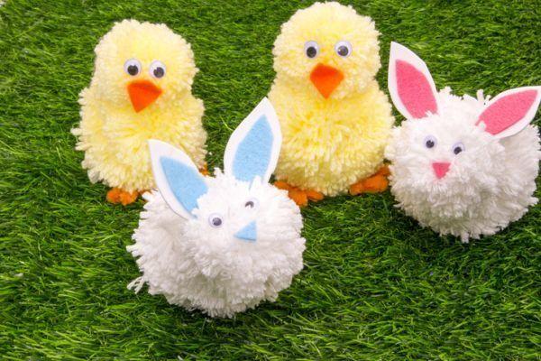 manualidades-con-lana-pollo-conejo-istock