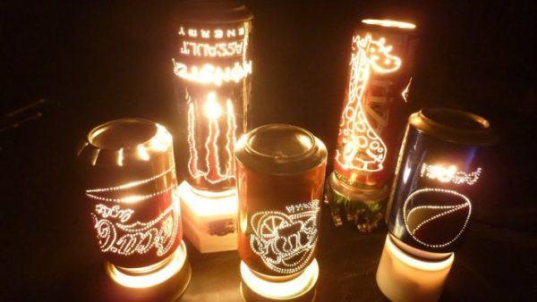 manualidades-de-material-reciclado-lamparas-con-latas-youtube
