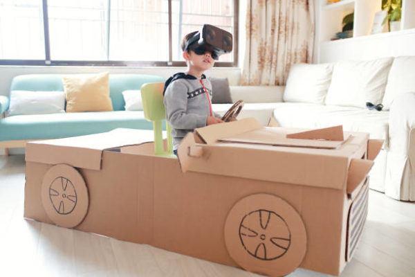 Aprende a hacer juguetes con cajas de carton coche